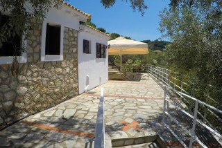 cottage villa ariadni terrace view